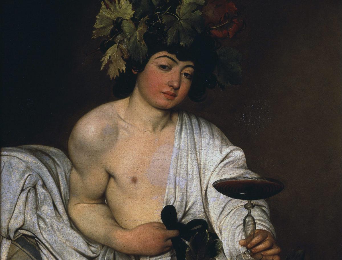 bacchus wine drinking god