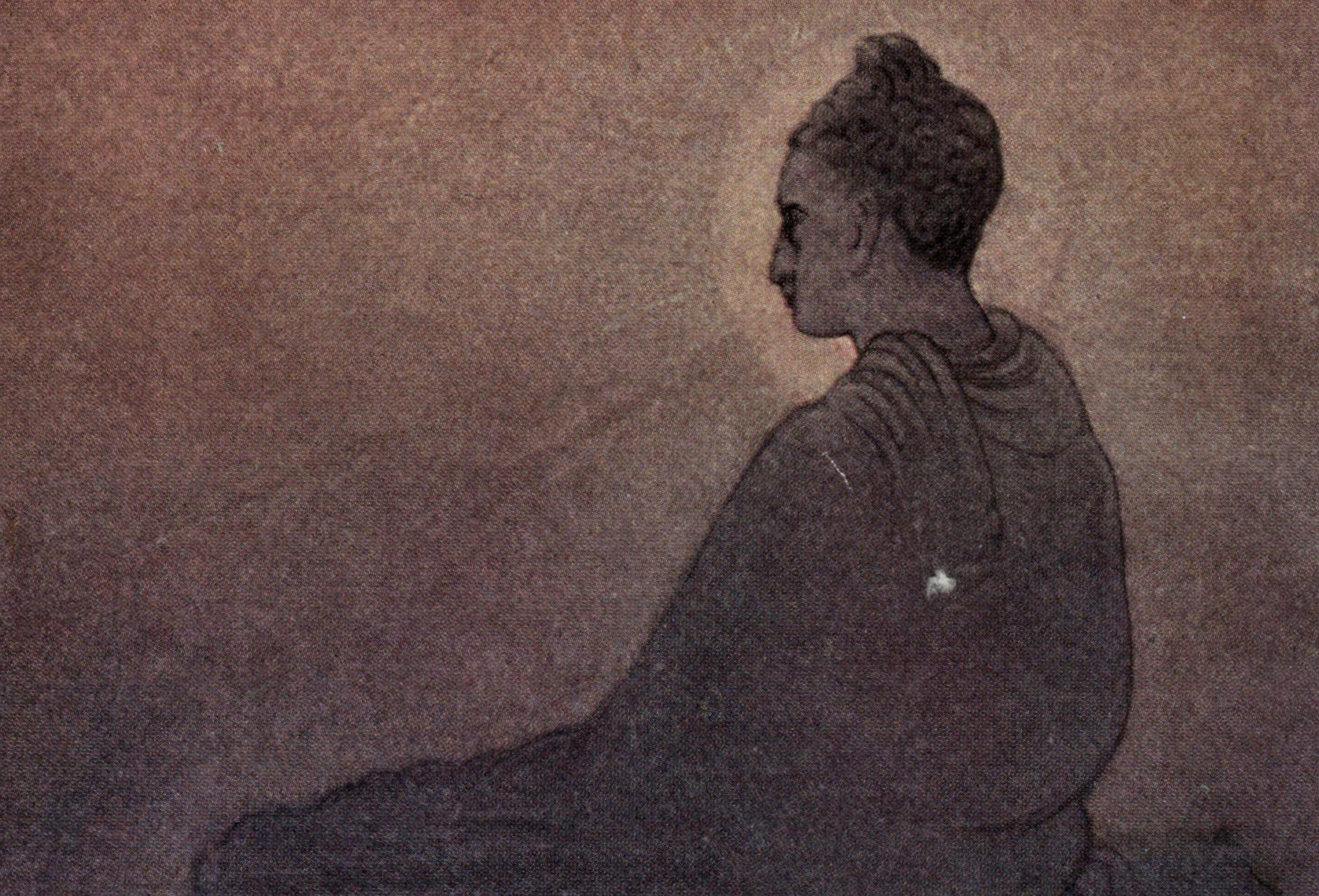 buddha sitting attaining nirvana