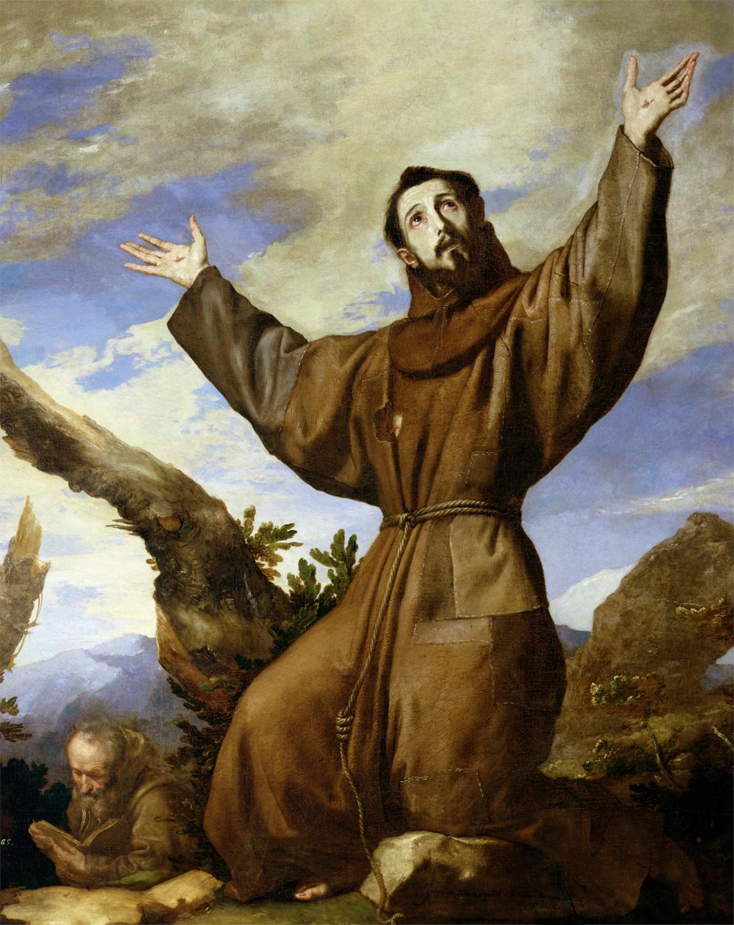 St Francis giving Praise