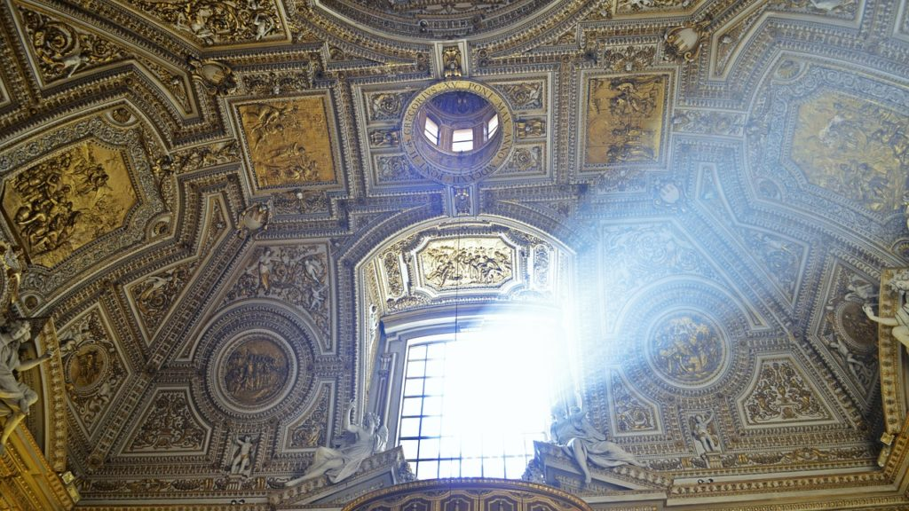 A prayer of light in St Peters Basilica