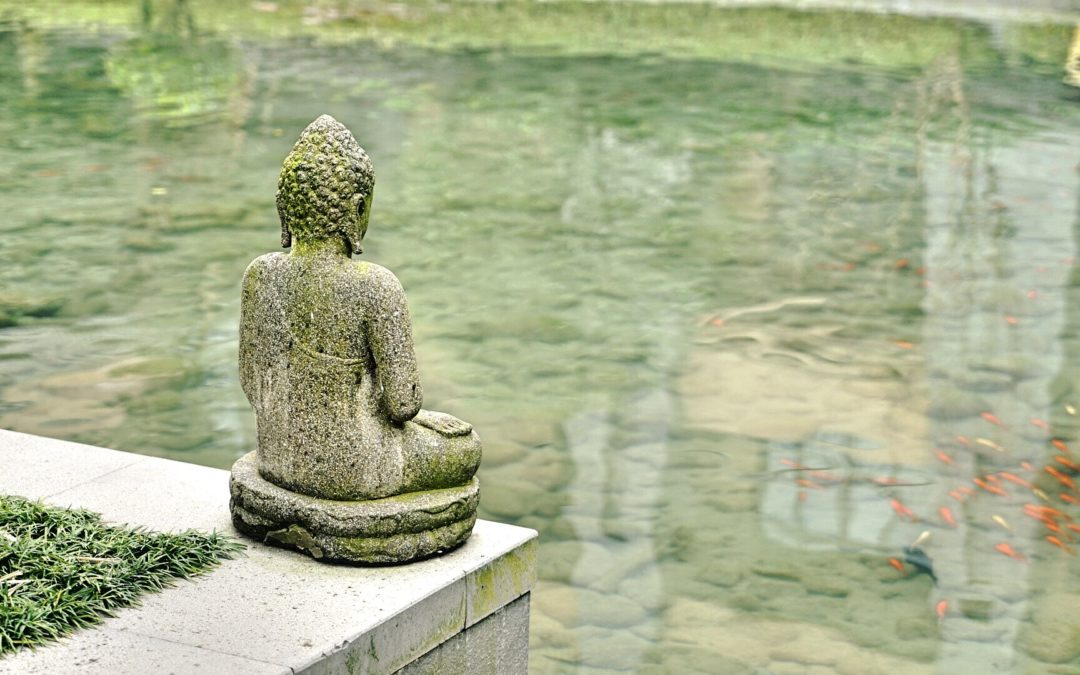 Buddha sitting by the pond (mystic)