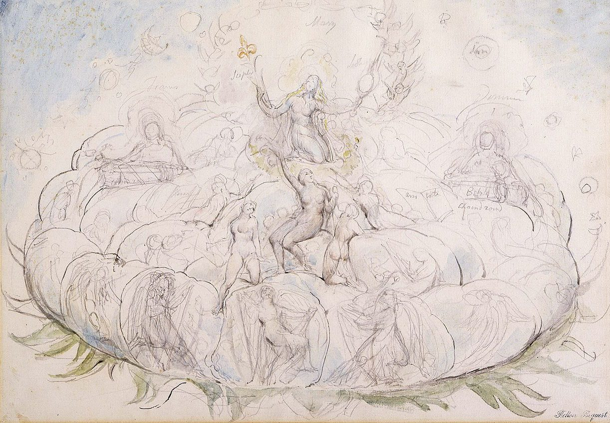 Dantes queen of heaven by william blake