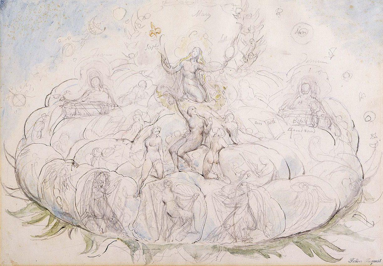 Dantes queen of heaven by william blake
