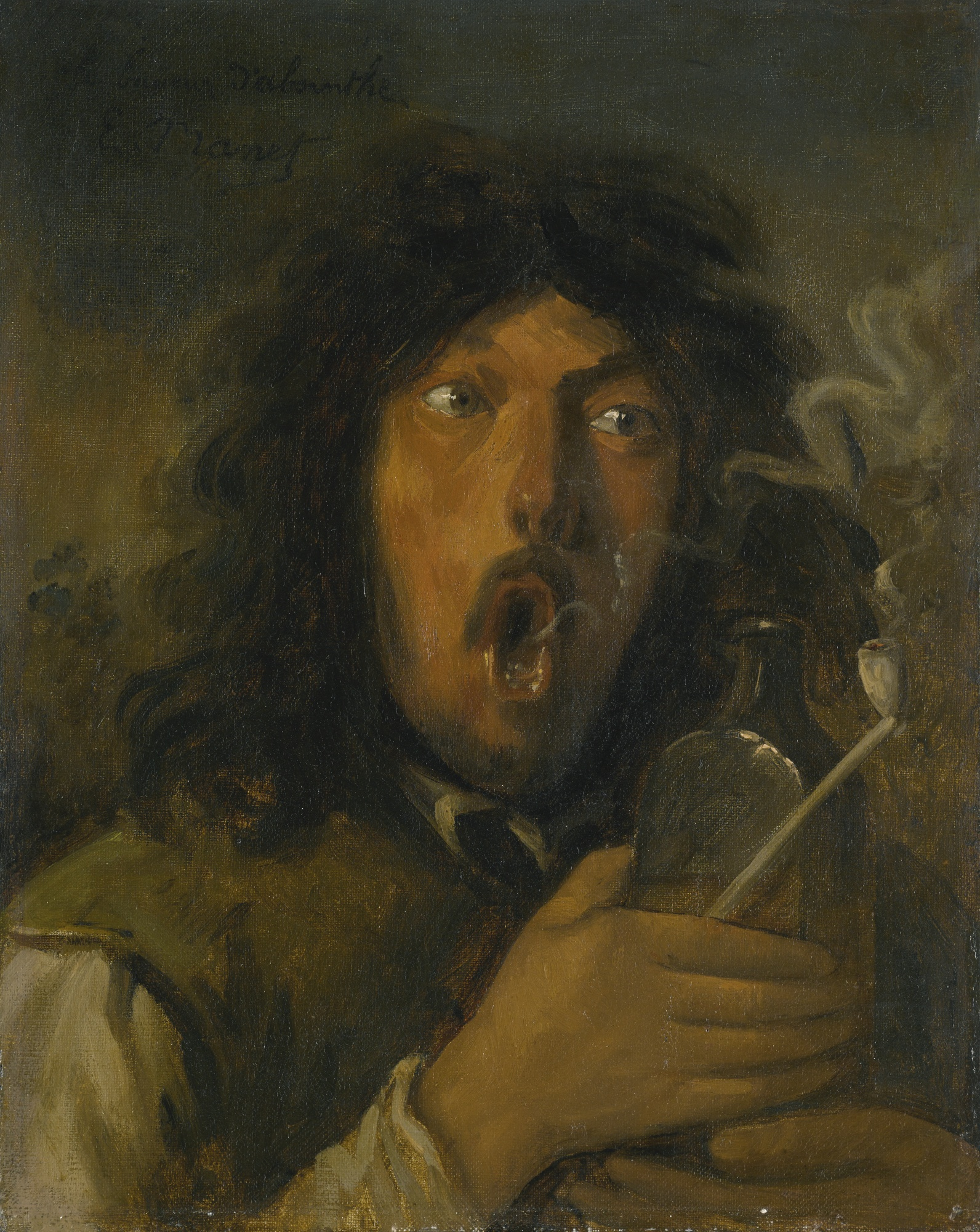 manet painting smoker