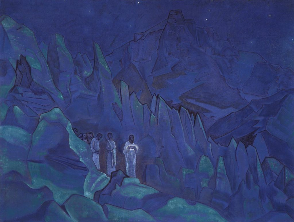 nicholas roerich painting burning the darkness