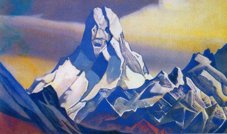 ice sphinx painting