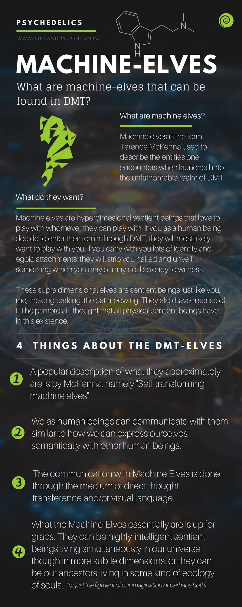 What are machine elves in DMT