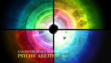 psychedelics psychic abilites (abstract art)