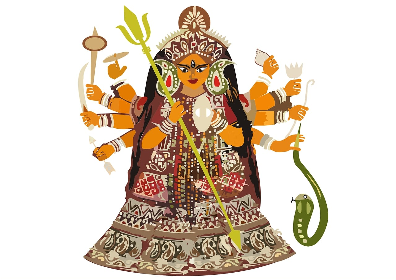 Durga the hindu war goddesss
