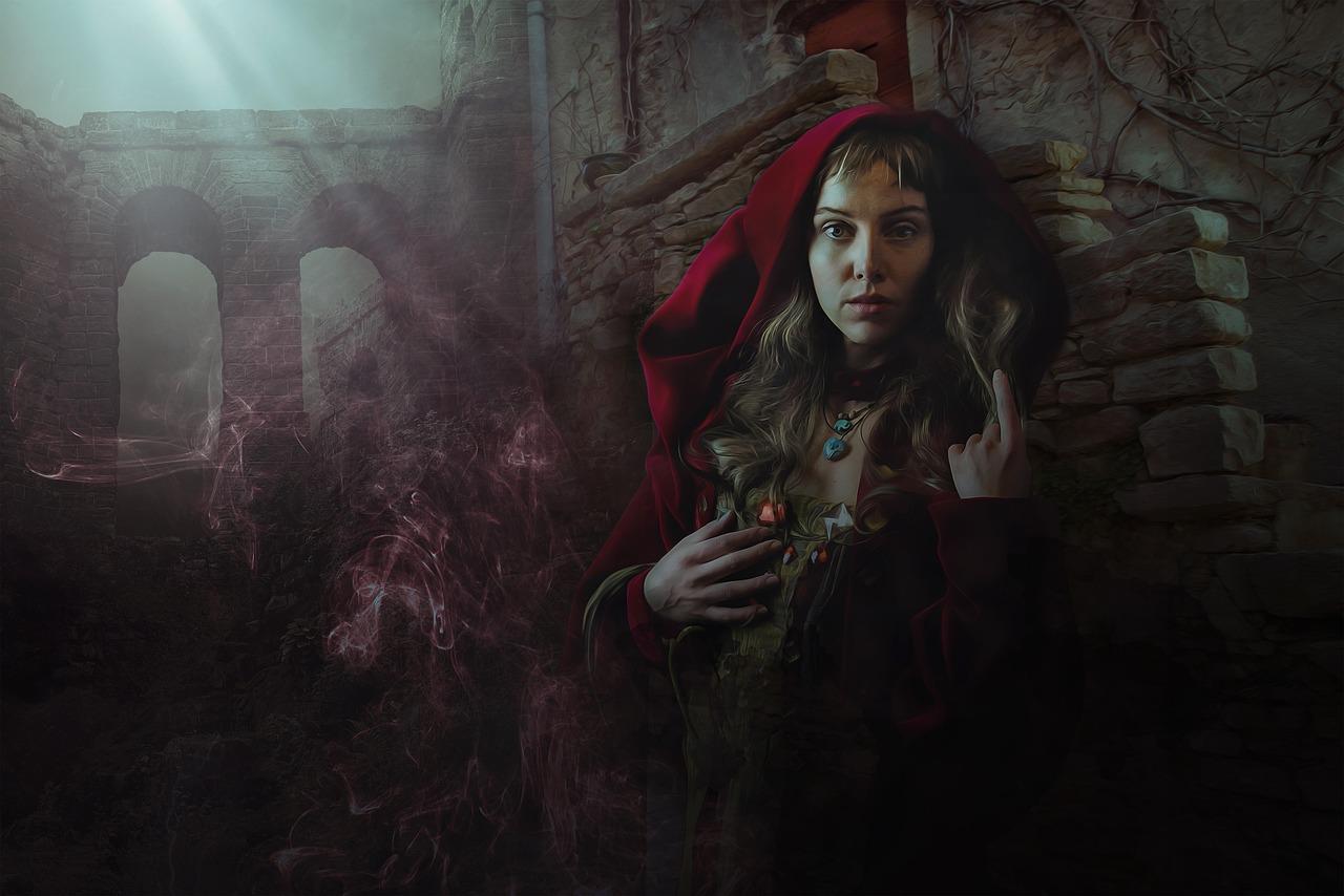 Fantasy woman goddess witch magic