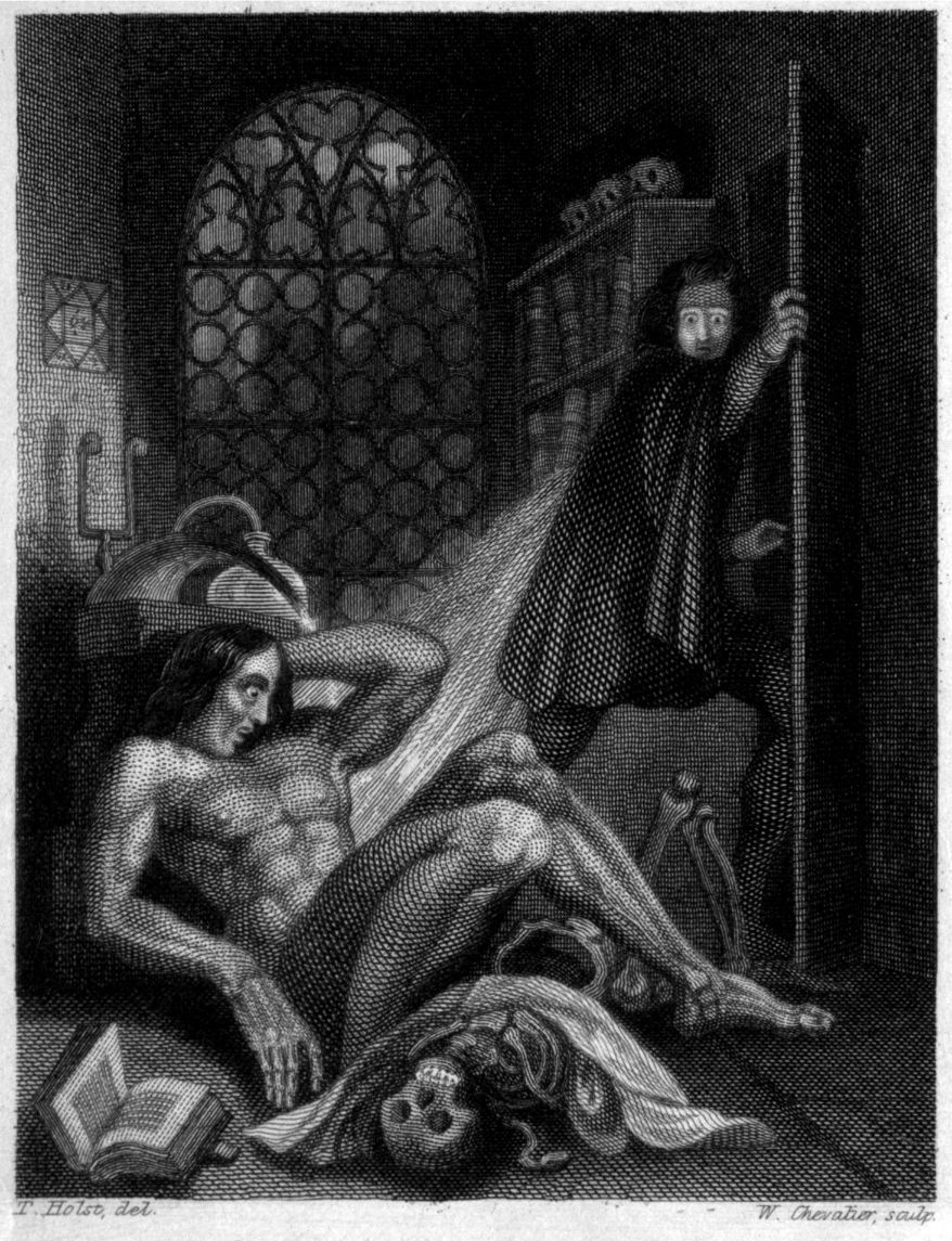 Frankenstein drawing from an 1831 version of the book
