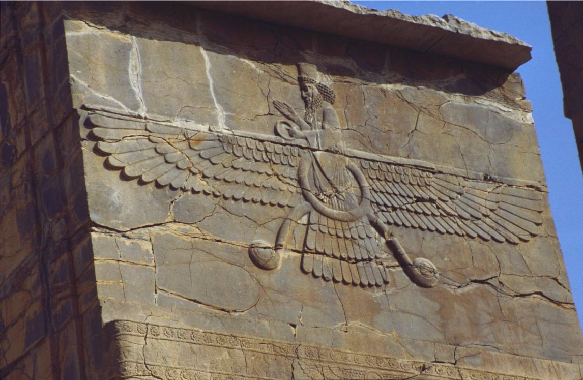 Depiction of Ahura Mazda in Persepolis