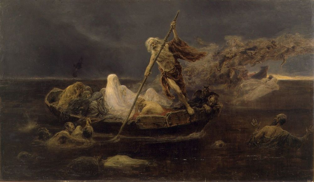 Boat of Charon by Jose Benlliure (1919)