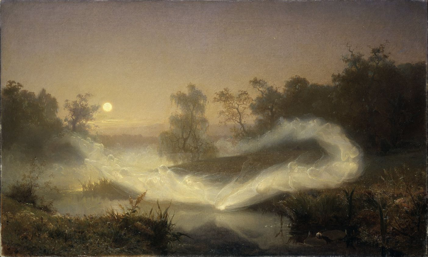 Dancing fairies by August Malmström