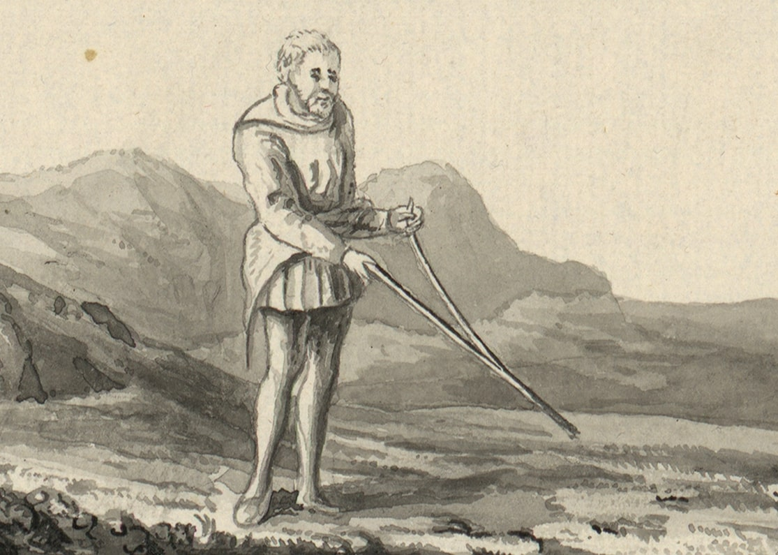 dowsing with two divining rods