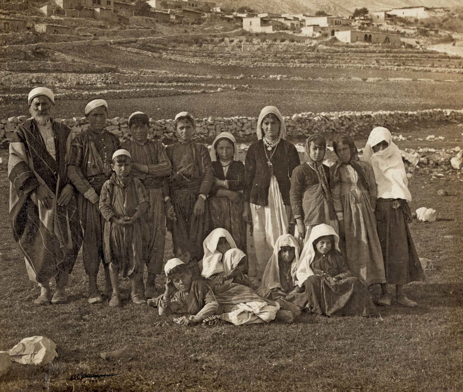 Druze posing for camera at mount hermon
