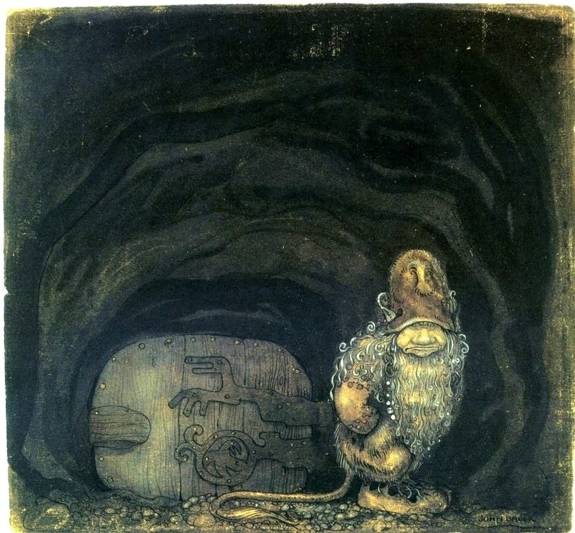 """Troll at the door"" by John Bauer"