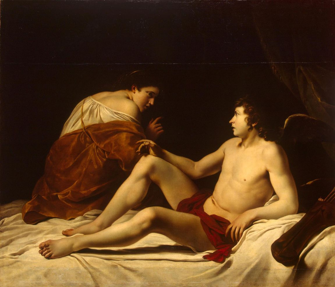 Cupid and Psyche by Orazio Gentileschi