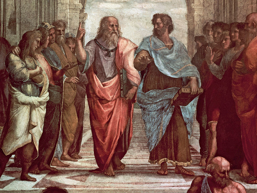 Michelangelos Aristotle and Plato