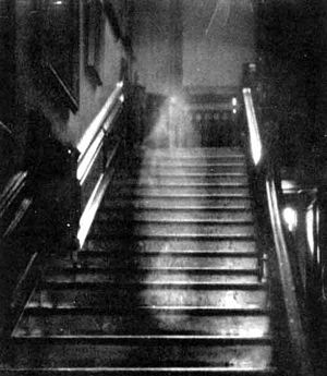 "The famous photo of the ""Brown Lady"" of Raynham Hall"