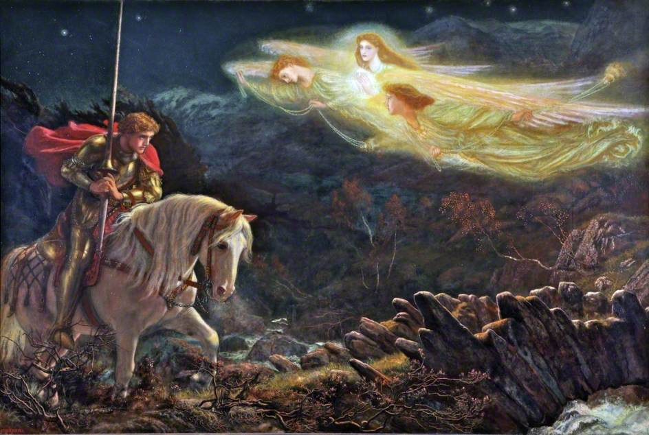 sir galahad quest for the holy grail (Arthur Hughes)