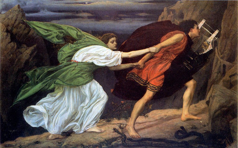 Orpheus and Eurydice escaping the underworld by Edward Poynter