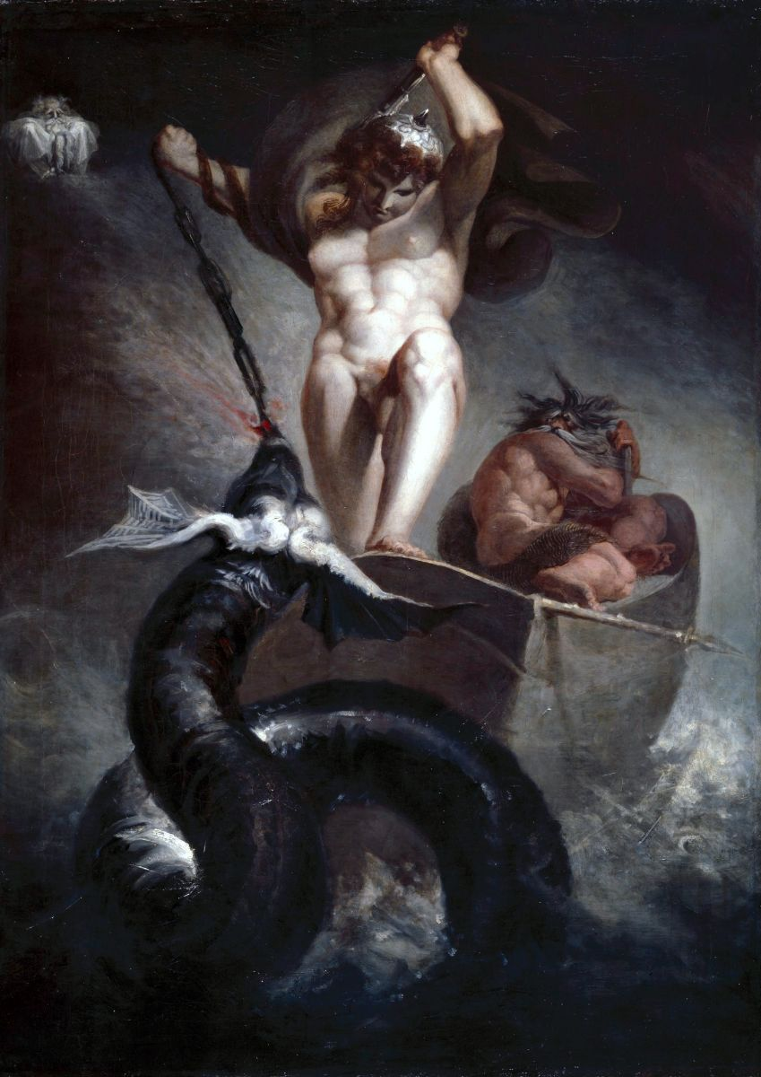 Thor vs the world snake Jörmungandr