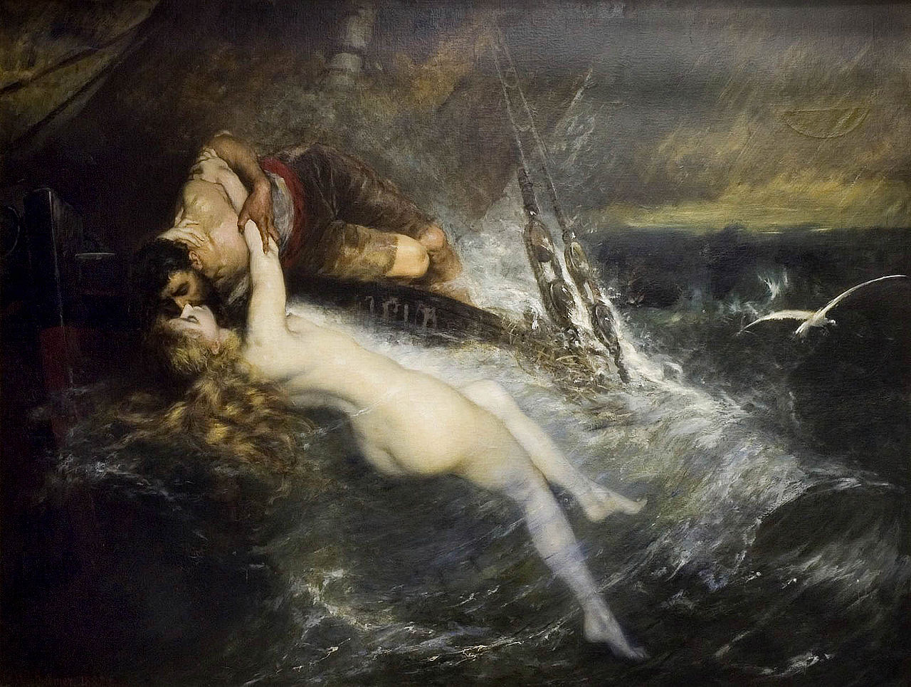 Kiss of the Siren by Gustav Wertheimer