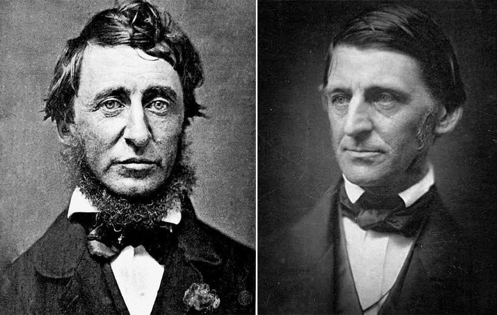 Portraits of Henry David Thoreau and Ralph Waldo Emerson