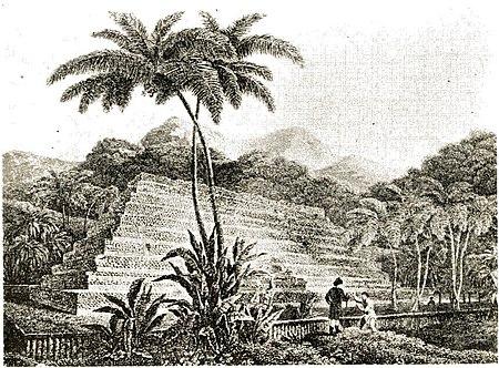 The Marae of Mahaiatea, Tahiti, in 1788.