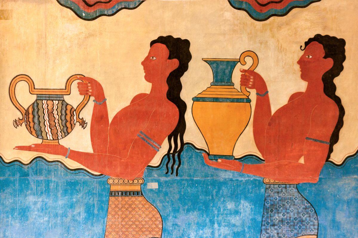 Minoan frescos cup bearers