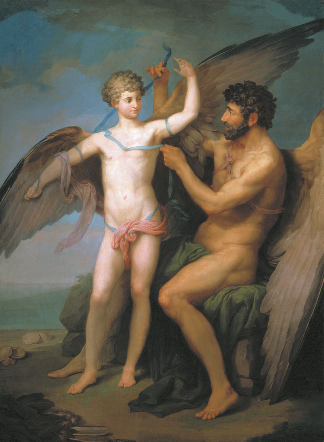 Daedalus and Icarus by Pyotr Ivanovich Sokolov
