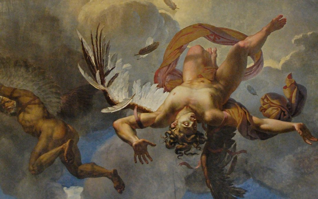 fall of icarus by Merry-Joseph Blondel on the louvre