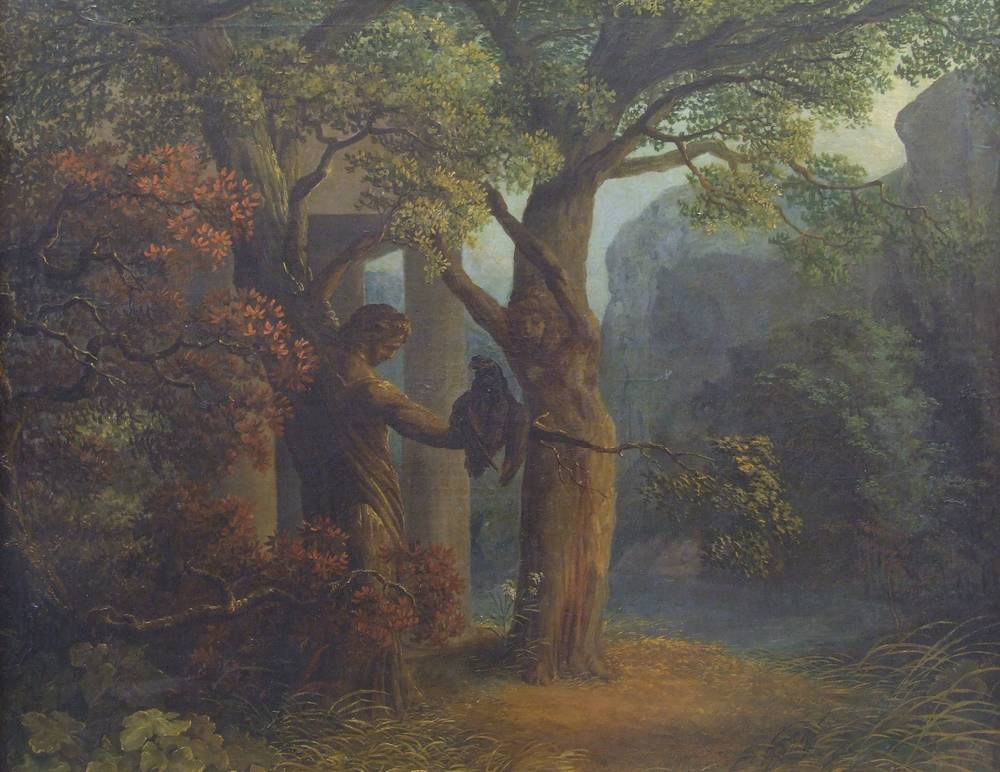 Philemon and Baucis Turning into Trees by Janus Genelli (1801)