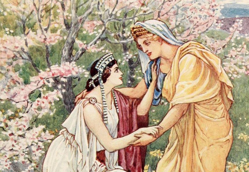 Demeter rejoiced as persephone returns