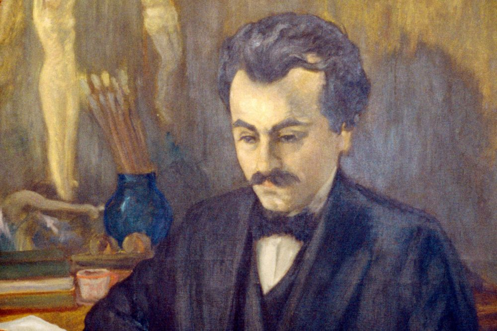 Painting portrait of Khalil Gibran
