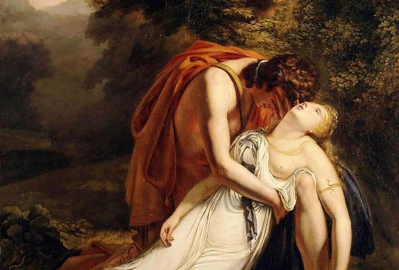 Orpheus mourning Eurydice