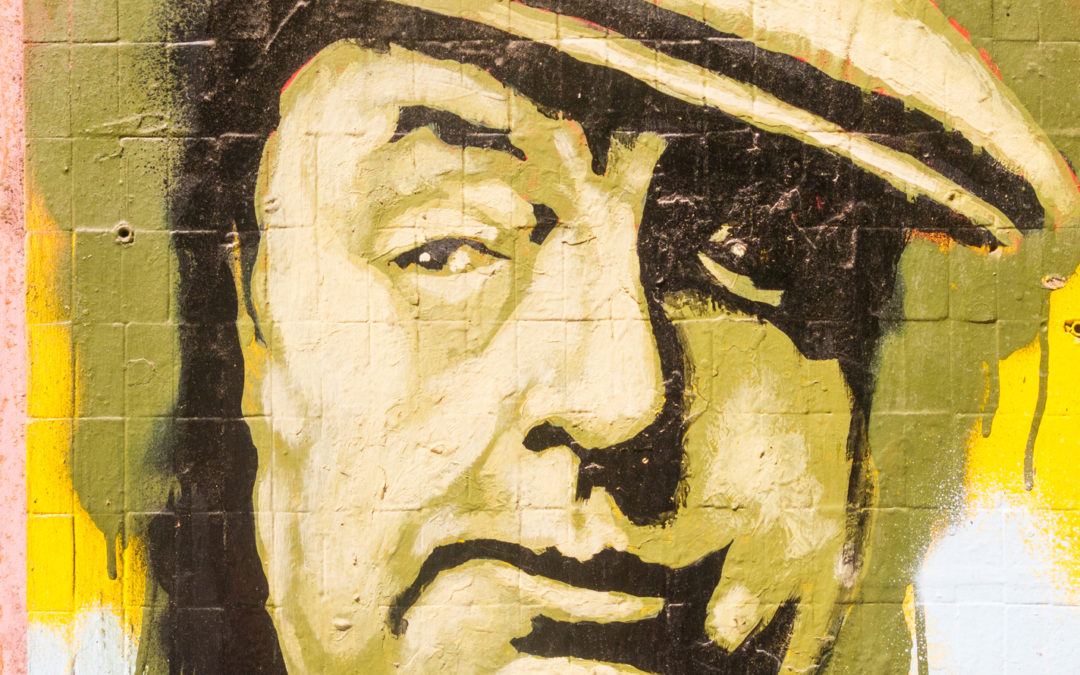 painted in homage to the writer Pablo Neruda, in the center of the city of Valparaiso.