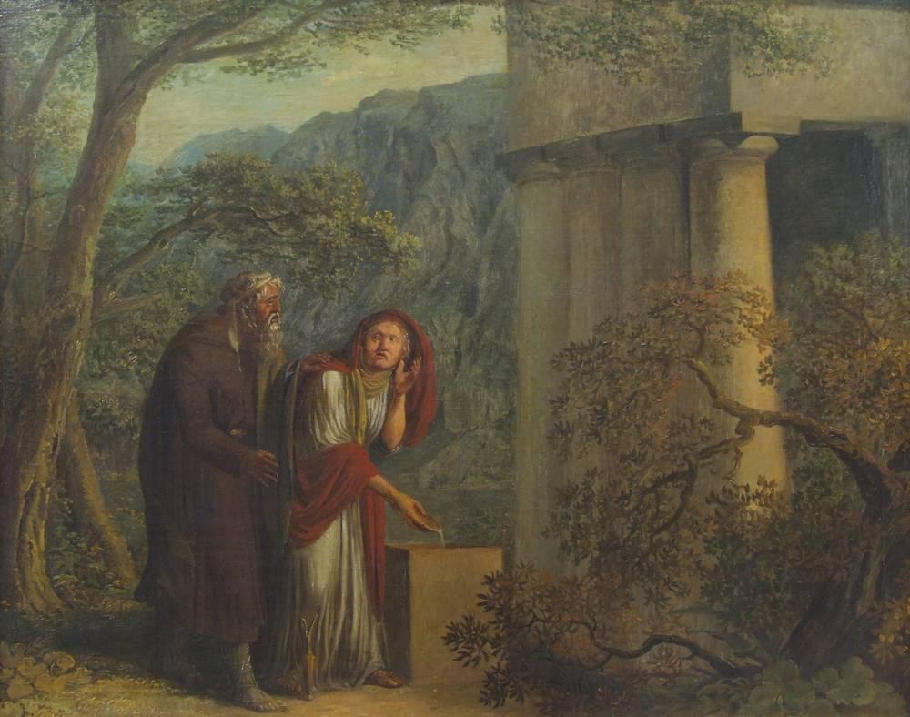 Philemon and Baucis as Priest and Priestess by Janus Genelli