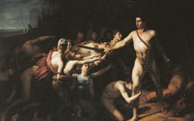 Theseus' Journey to Crete to Slay the Minotaur