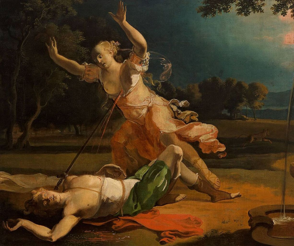 pyramus and thisbe painting