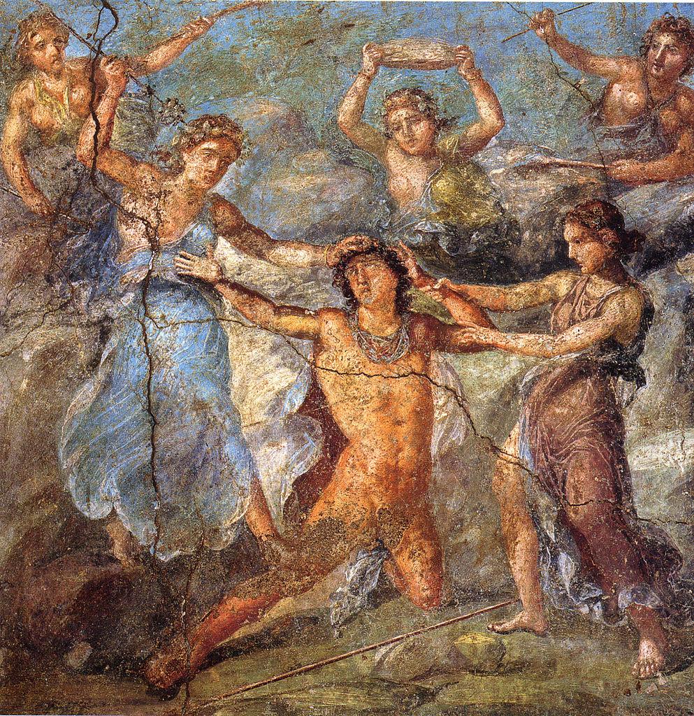 Pompeii pentheus death