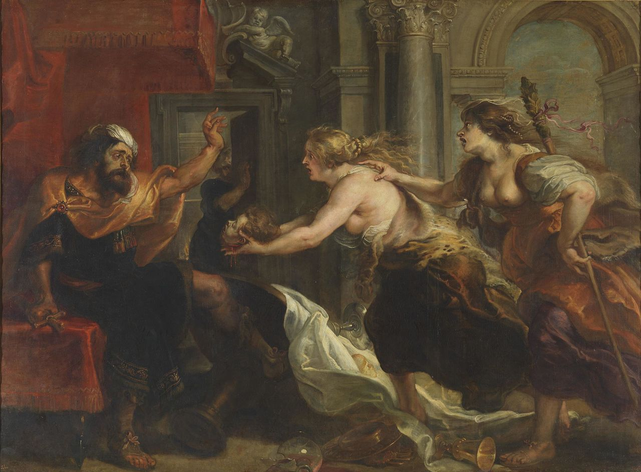 Tereus Confronted with the Head of his Son Itylus (oil on canvas, painted 1636–1638), one of the late works of Flemish Baroque painter Peter Paul Rubens